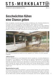 Geschwächten Kühen eine Chance geben - Schweizer Tierschutz STS