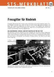 Fressgitter für Rindvieh - Schweizer Tierschutz STS