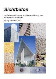 Sichtbeton – Leitfaden zur Planung und Bauausführung