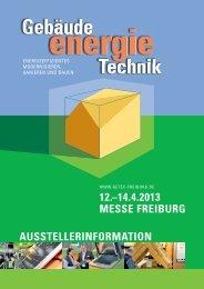 12.–14.4.2013 messe freiburg ausstellerinformation - B2Match