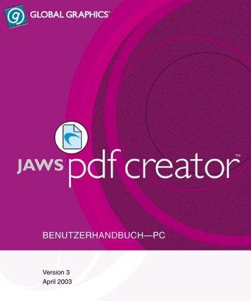 PDF Creator User Manual - Jaws PDF Software