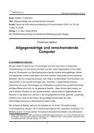 Allgegenwärtige und verschwindende Computer - Mediaculture online