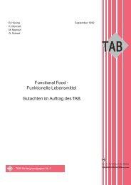 Functional Food - Funktionelle Lebensmittel Gutachten im Auftrag ...