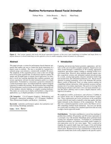Realtime Performance-Based Facial Animation - Computer Graphics ...