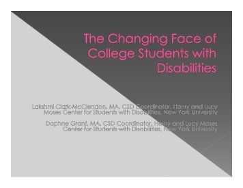 The Changing Face of College Students with Disabilities_NASPA II