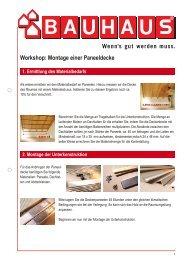 Workshop: Montage einer Paneeldecke - Bauhaus