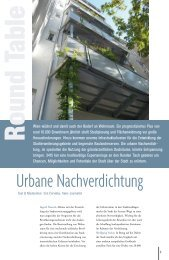 Round Table - Urbane Nachverdichtung - VASKO+PARTNER