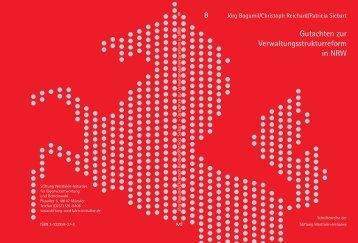 8 Gutachten zur Verwaltungsstrukturreform in NRW - Westfalen ...