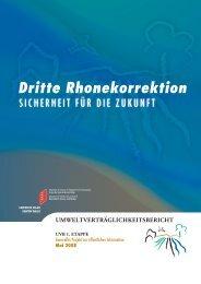 Dritte Rhonekorrektion - Etat du Valais