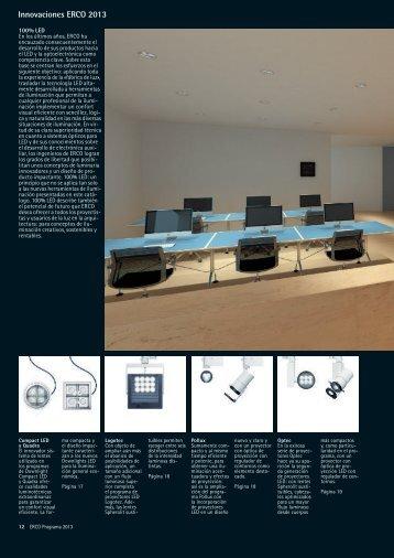 Innovaciones ERCO 2013