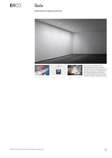 Iluminación de espacios interiores - Erco