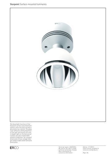 Starpoint Surface-mounted luminaires - Erco