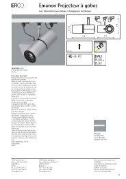E Emanon Projecteur à gobos - Erco.com
