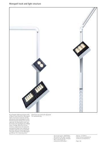 Monopoll track and light structure - Erco