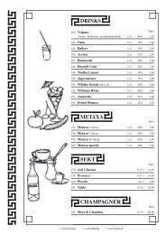 Weine & Getränke - Griechisches Restaurant Dionysos Ismaning