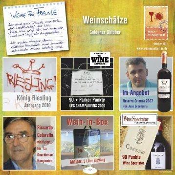 Weine für Freunde Ausgabe Oktober 2011(pdf Datei