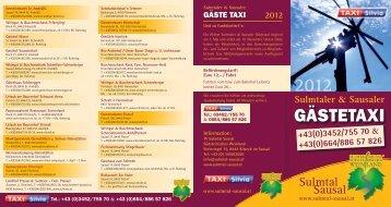 GästEtAXI 2012 - Sulmtal-Sausal