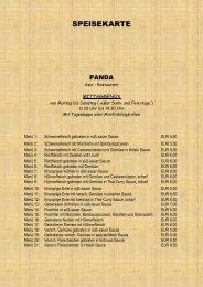 Liebe Gäste, - Asia-Restaurant Panda - Bad Endorf