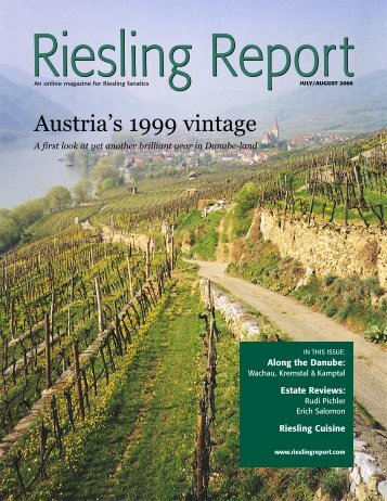 Austria's 1999 vintage - Riesling Report
