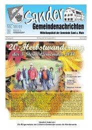 20. Herbstwanderung der 5-Sterne-Gemeinden 2011 - Sand am Main