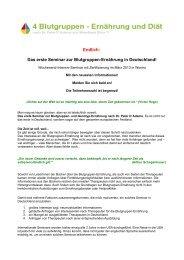 Download Seminar-Informationen - 4 Blutgruppen - Ernährung und ...
