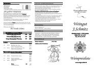 Weinpreisliste - Weingut Schmitz