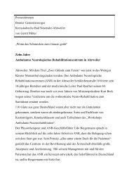 ANR 10 Jahre[1] - Neurologische Therapie RheinAhr