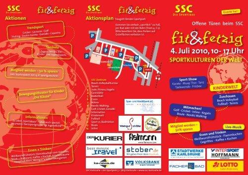 4. Juli 2010, 10- 17 Uhr - Sport und Schwimmclub Karlsruhe eV