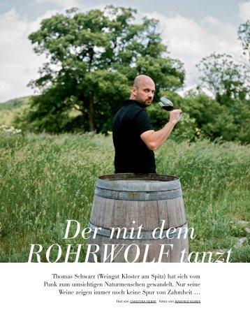 Der mit dem ROHRWOLF tanzt - Thomas Schwarz - Kloster am Spitz