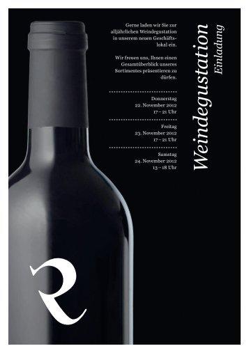 Wein degu station Ein ladung - Ritter Weine AG