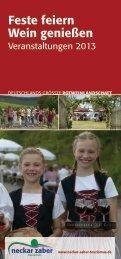 Feste feiern Wein genießen - Neckar-Zaber-Tourismus eV
