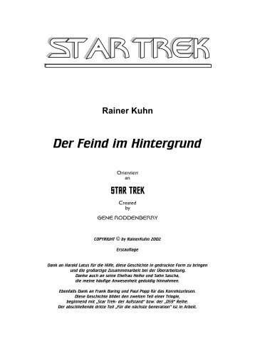 Rainer Kuhn Der Feind im Hintergrund
