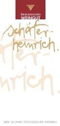 Weinkarte(PDF-Datei) - Weingut Schäfer-Heinrich