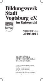 arbeitsplan 2010/2011 - Vogtsburg im Kaiserstuhl