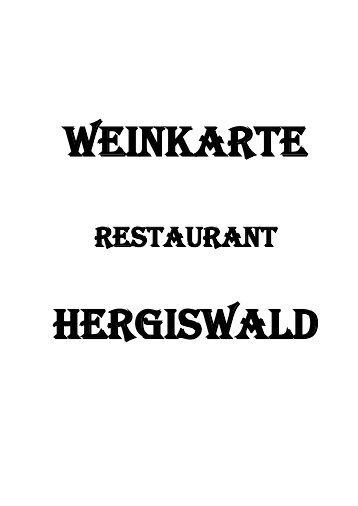 Weinkarte - Restaurant Hergiswald