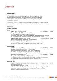 weinkarte (pdf) - frederik's