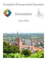 Gemeindebrief Ostern 2010 - Evangelische Kirchengemeinde ...