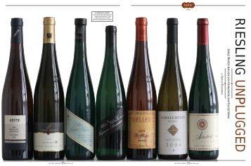 RIESLING UNPLUGGED - Nikos Wein-und Gourmetwelten
