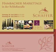Hambacher Markttage - Weingut Schäffer