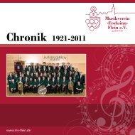 Chronik 1921-2011 - Musikverein »Frohsinn« Flein eV
