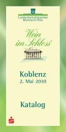 Koblenz 2. Mai 2010 Katalog