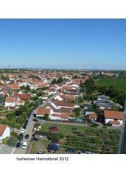 2012 Insheimer Heimatbrief - Ortsgemeinde Insheim