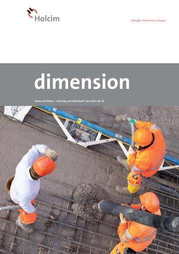 dimension 1/12 - Holcim