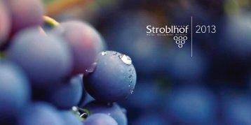 Stroblhof Katalog mit Preisliste 2013 - Weingut Stroblhof