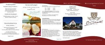 Weinangebotsliste Veranstaltungen Probierpaket ... - Weingut Schell