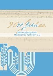 90 Jahre - MGV 1922 Worms-Hochheim e. V.