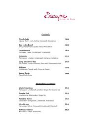 offene Weine - Escape Wein- & Champagner Lounge