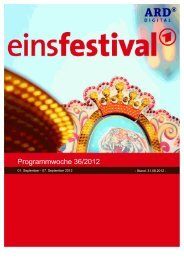 Programmwoche 36/2012 - Das Programm der ARD