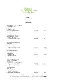 finden Sie eine Auswahl unserer Getränke - Hotel Krupunder Park