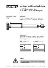 Montage- und Einstellanleitung - Somfy